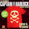 LEIJI MATSUMOTO'S CAPTAIN HARLOCK SKULL & CROSSBONES LIMITED EDITION GLOW IN THE DARK RED T-SHIRT