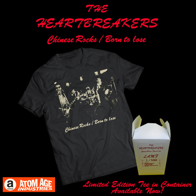 "JOHNNY THUNDERS AND THE HEARTBREAKERS ""CHINESE ROCKS"" LIMITED EDITION T-SHIRT IN CHINESE FOOD CONTAINER"