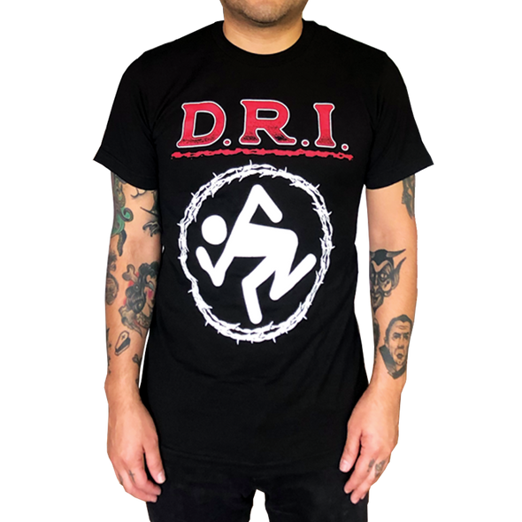 "D.R.I.: ""BARBED WIRE SKANKER"" T-SHIRT"