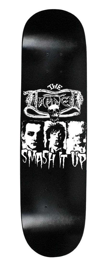 "DAMNED ""SMASH IT UP"" GLOW IN THE DARK SKATEBOARD DECK"