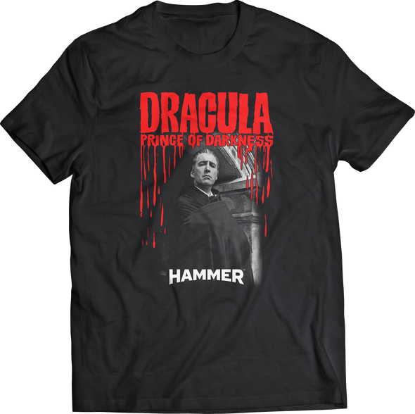 "HAMMER FILMS: ""DRACULA: PRINCE OF DARKNESS"" PORTRAIT T-SHIRT"