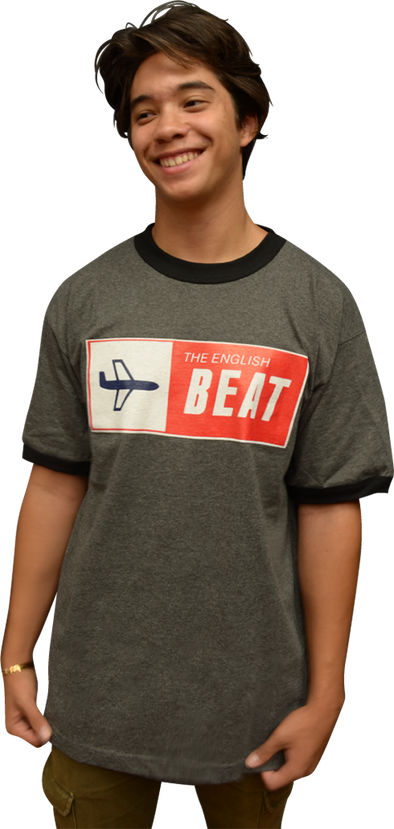 "ENGLISH BEAT ""AIRPLANE"" RINGER UNISEX T-SHIRT"
