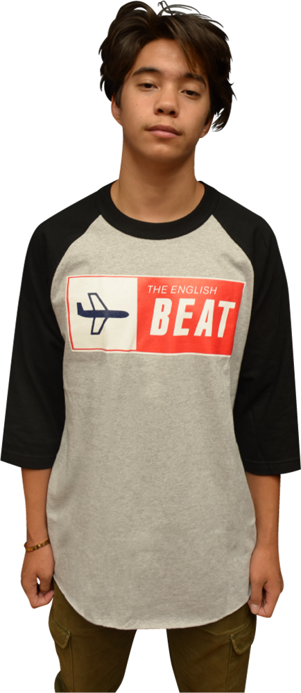 "ENGLISH BEAT ""AIRPLANE"" 3/4 SLEEVE RAGLAN"
