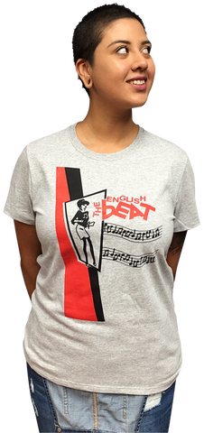 "ENGLISH BEAT ""Beat Girl"" LADIES LIGHT STEEL T-SHIRT"