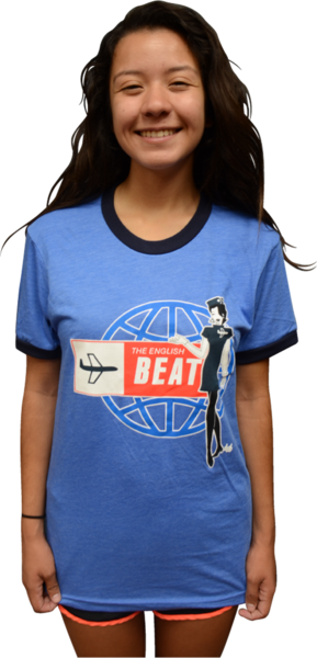 "ENGLISH BEAT ""STEWARDESS"" RINGER T-SHIRT"