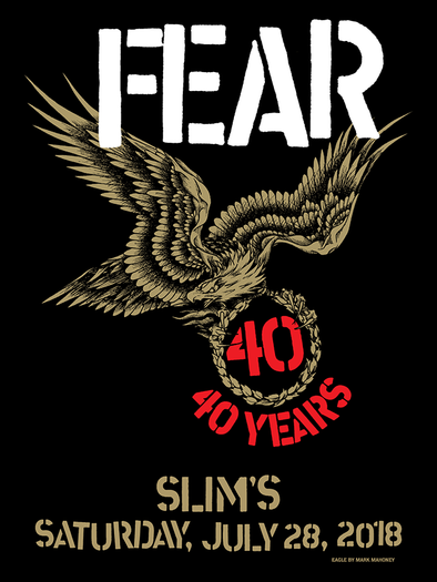 "FEAR ""40TH ANNIVERSARY TOUR"" POSTER"