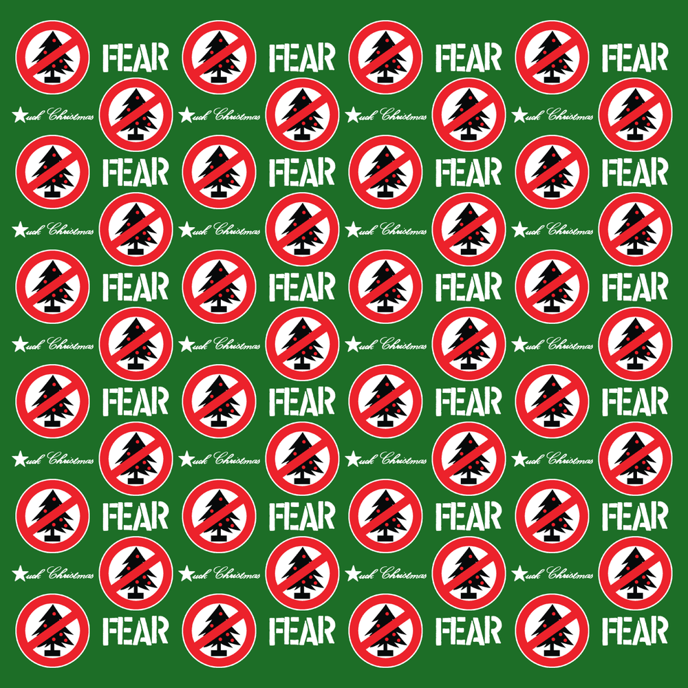 fear fuck christmas wrapping paper