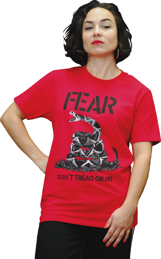 "FEAR ""DON'T TREAD ON ME"" T-SHIRT"
