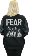 "FEAR ""GAS MASK"" LETTERMAN JACKET"