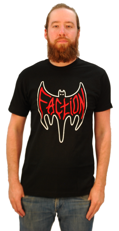 "FACTION ""BAT LOGO"" T-SHIRT"