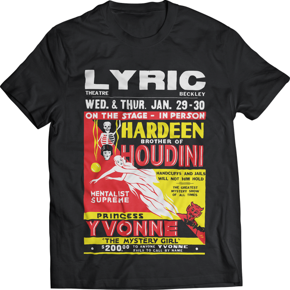 "ATOM AGE ""HARDEEN BROTHER OF HOUDINI"" T-SHIRT"