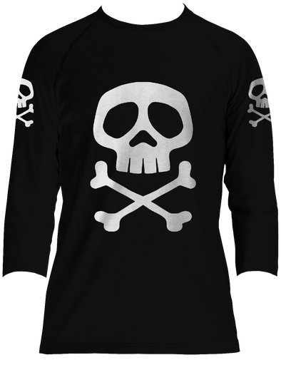 CAPTAIN HARLOCK 3/4 SLEEVE RAGLAN T-SHIRT