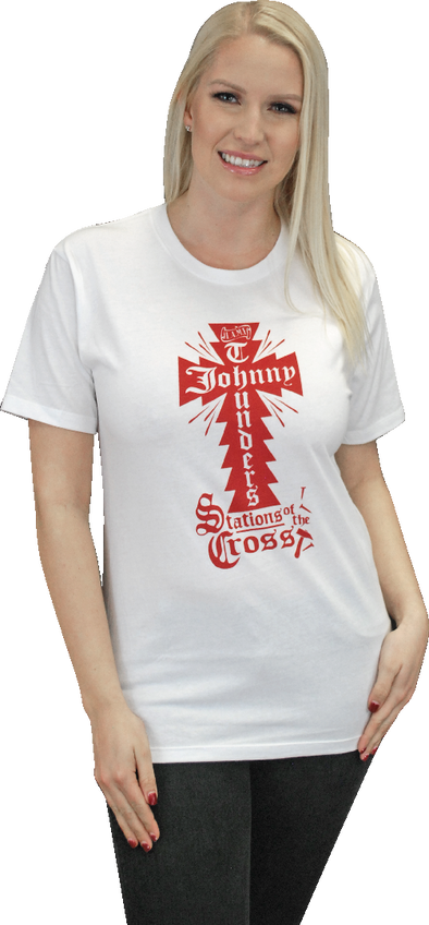 "JOHNNY THUNDERS ""STATIONS OF THE CROSS"" T-SHIRT"
