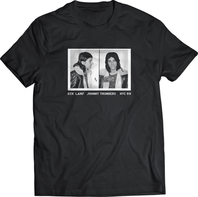"JOHNNY THUNDERS ""MUG SHOT"" T-SHIRT"