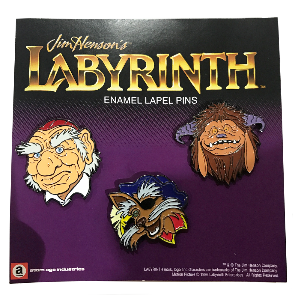 LABYRINTH ENAMEL PIN SET