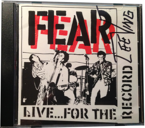 "FEAR: ""LIVE FOR THE RECORD"" CD"