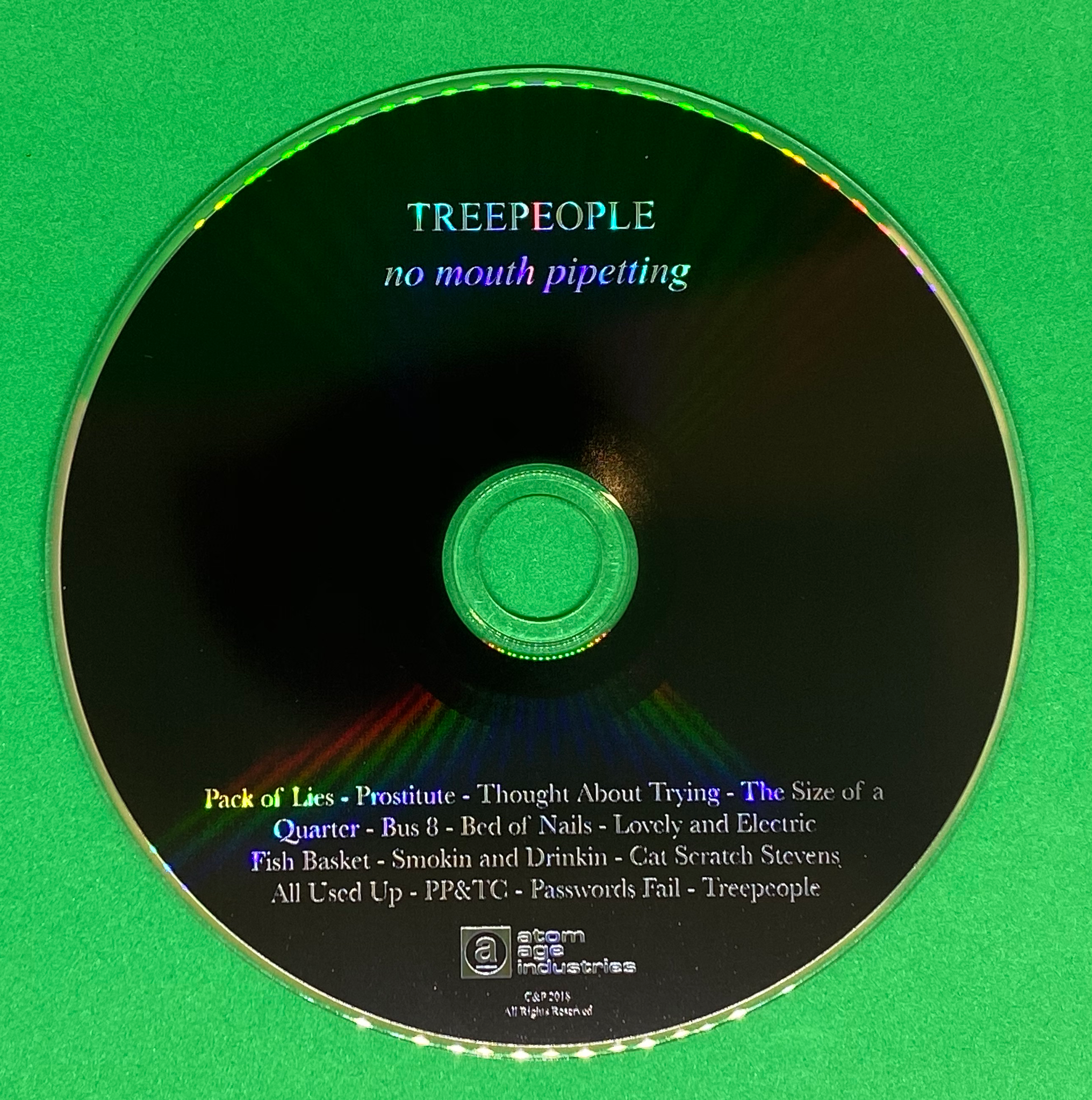 "TREEPEOPLE ""NO MOUTH PIPETTING"" CD"