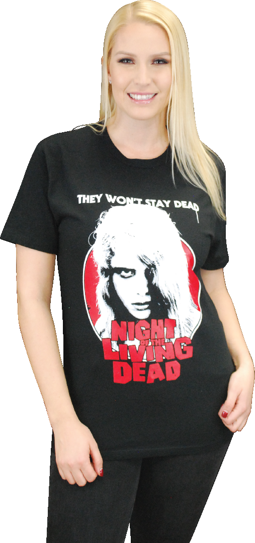 "NIGHT OF THE LIVING DEAD ""KYRA"" T-SHIRT DESIGNED BY MISTER BLACK"