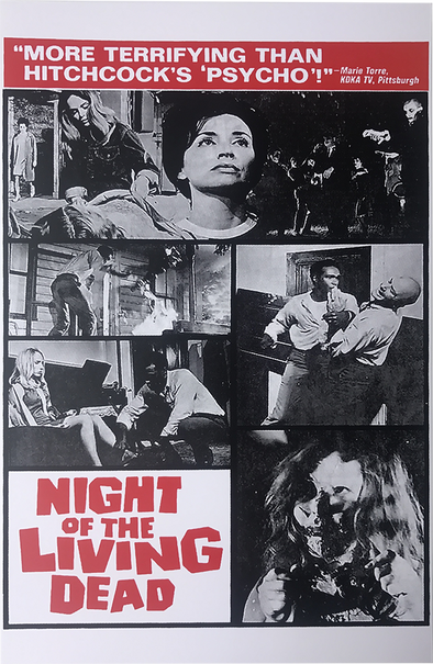 NIGHT OF THE LIVING DEAD TERRIFYING POSTER