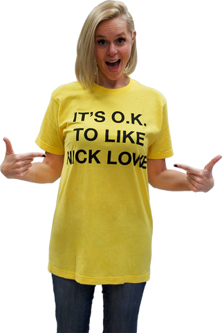 "NICK LOWE ""IT'S OK TO LIKE NICK LOWE"" T-SHIRT"