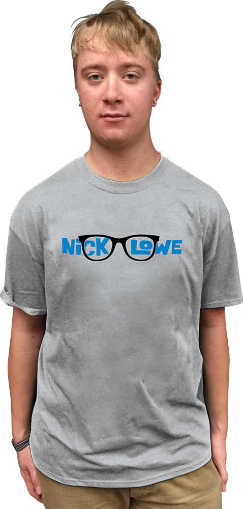 "NICK LOWE ""GLASSES"" T-SHIRT"