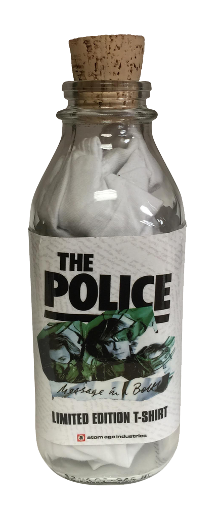 "THE POLICE ""MESSAGE IN A BOTTLE"" T-SHIRT IN A BOTTLE"