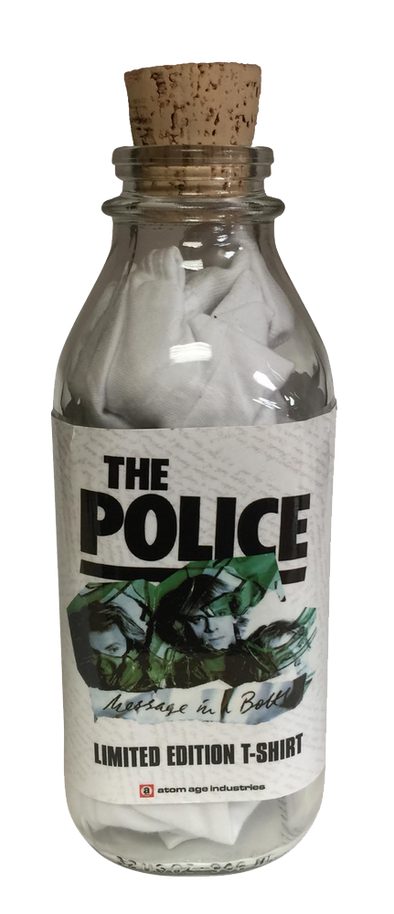 "POLICE ""MESSAGE IN A BOTTLE"" T-SHIRT IN A BOTTLE"