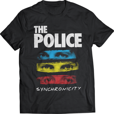 "THE POLICE: ""SYNCHRONICITY"" T-SHIRT"