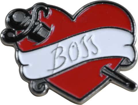 "ROCKY HORROR PICTURE SHOW ""BOSS"" FRANKFURTER TATTOO LAPEL PIN"
