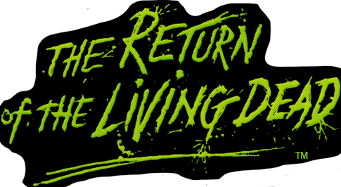 RETURN OF THE LIVING DEAD - GLOW IN THE DARK LOGO EMBROIDERED PATCH