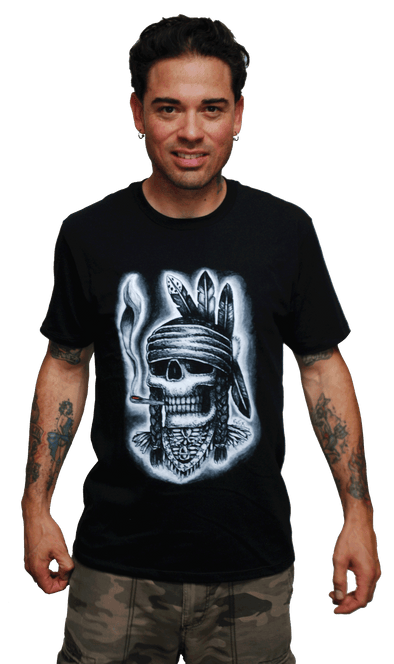 "RXCX ""SMOKING INDIAN"" T-SHIRT"