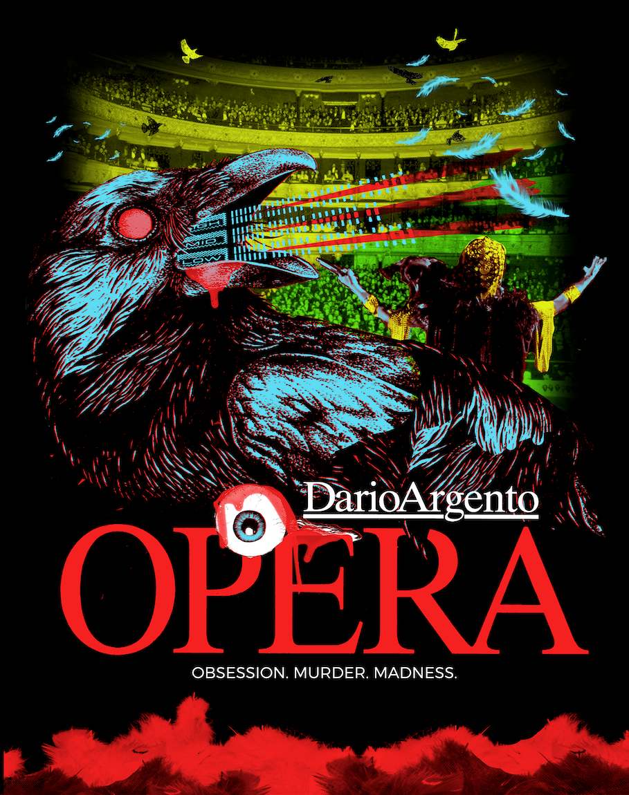 "DARIO ARGENTO ""OPERA"" RAVEN SILKSCREENED POSTER DESIGNED BY DANNY WEST"