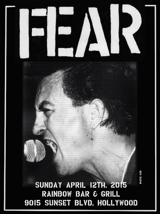 "FEAR: ""RAINBOW BAR & GRILL"" 4-12-15 LIMITED EDITION SILKSCREEN POSTER"