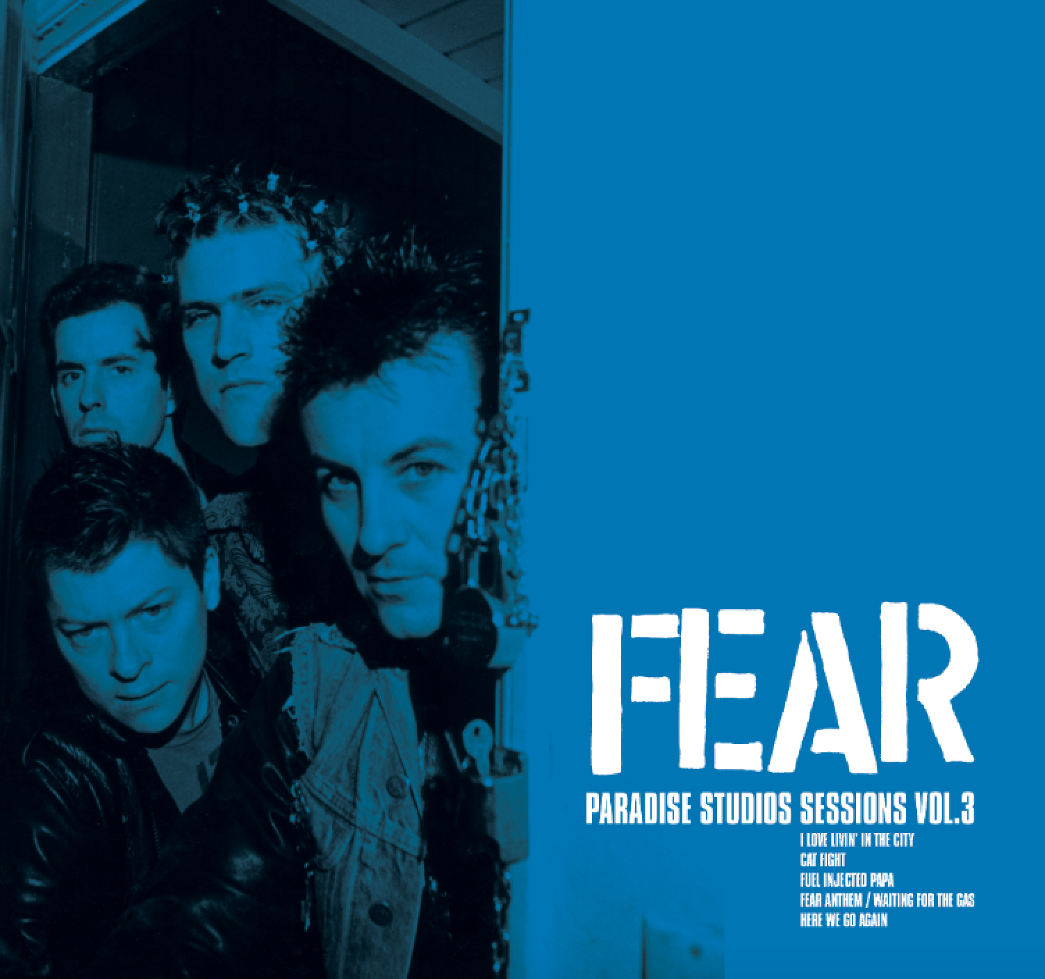 "FEAR 'PARADISE STUDIOS SESSIONS VOL. 3' 7"" VINYL SINGLE (LIMITED EDITION) BLUE VINYL"