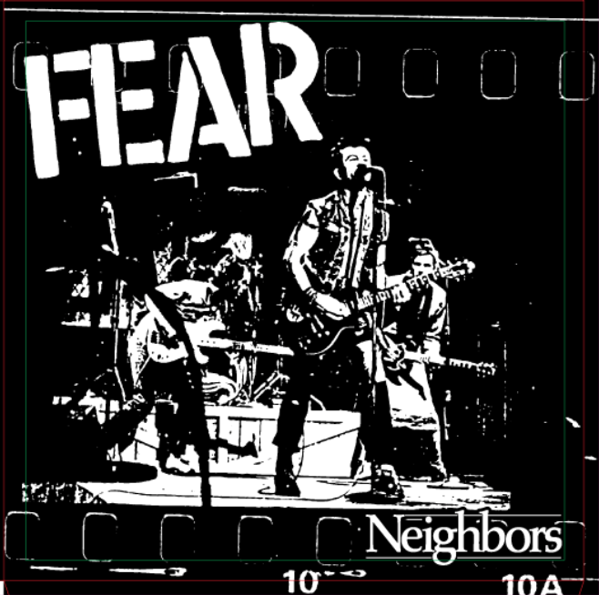 "FEAR ""NEIGHBORS"" LIMITED EDITION SPLATTER VINYL (ATOM AGE EXCLUSIVE) 7"" SINGLE"