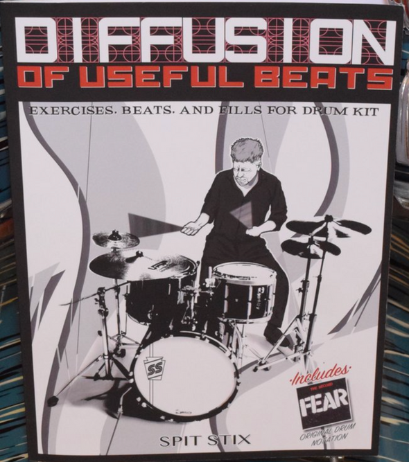 "FEAR - SPIT STIX ""DIFFUSION OF USEFUL BEATS"" AUTOGRAPHED BOOK"