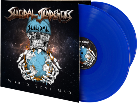 "SUICIDAL TENDENCIES ""WORLD GONE MAD"" BLUE DOUBLE LP"