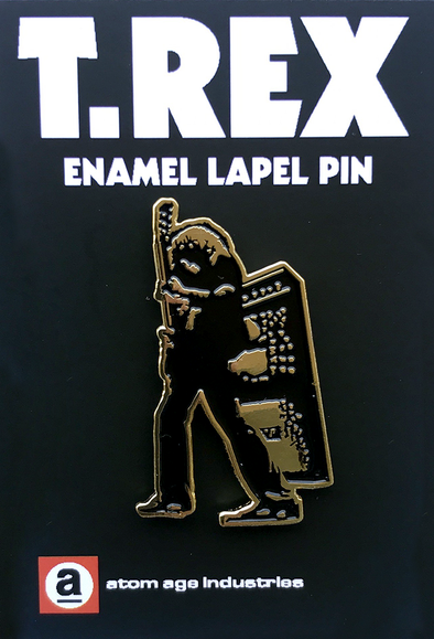 T.REX ELECTRIC WARRIOR ENAMEL PIN