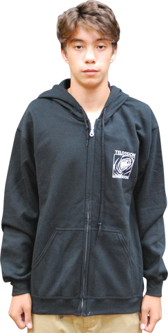 "TELEVISION: ""MARQUEE MOON"" BLACK ZIP-UP HOODIE"