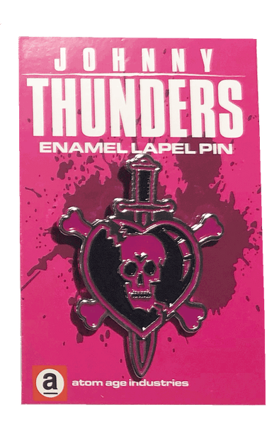 JOHNNY THUNDERS SKULL & DAGGER ENAMEL PIN
