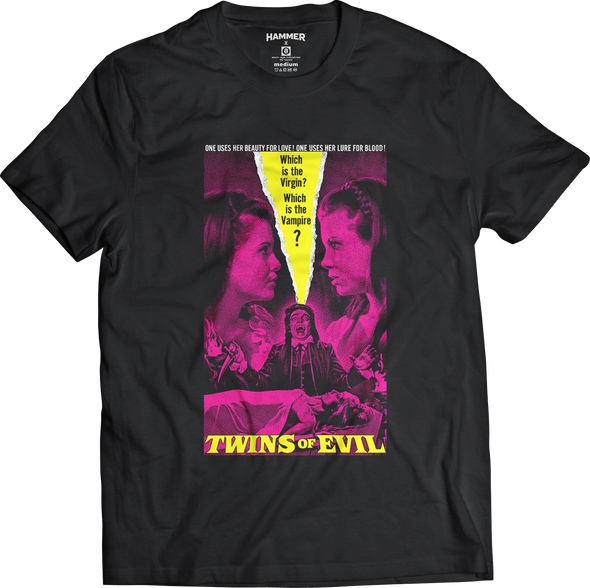 "HAMMER FILMS: ""TWINS OF EVIL"" T-SHIRT"