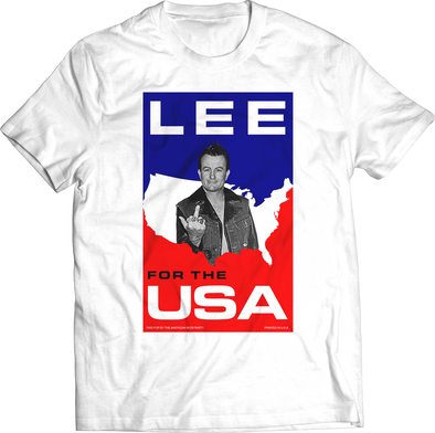 "LEE VING ""LEE FOR THE USA"" CAMPAIGN T-SHIRT"
