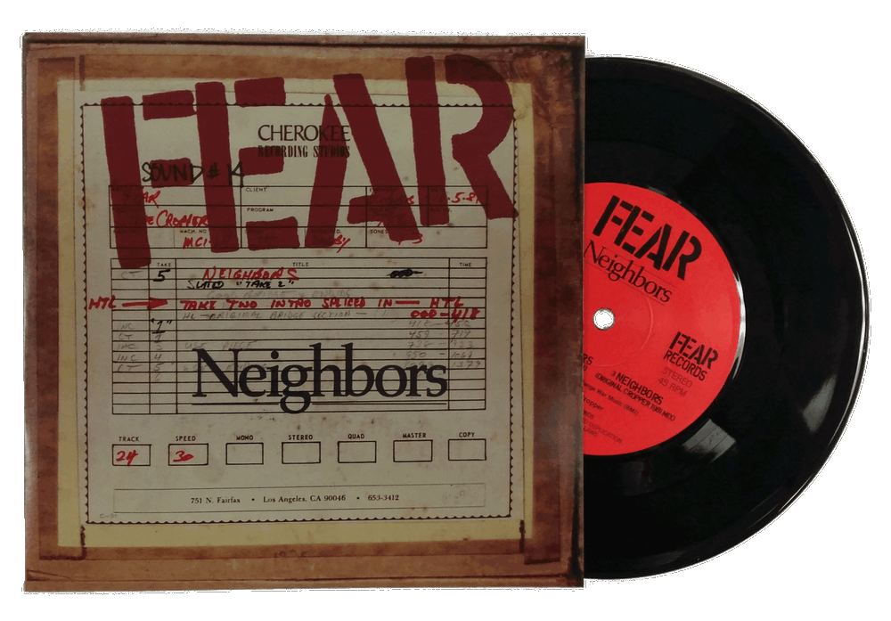 "FEAR & JOHN BELUSHI: NEIGHBORS 7"" VINYL SINGLE EP"