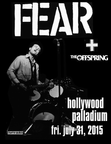 "FEAR: ""PALLADIUM -W- OFFSPRING"" 7-31-15 LIMITED EDITION SILKSCREEN POSTER"