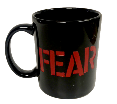 "FEAR ""STENCIL LOGO"" COFFEE MUG"