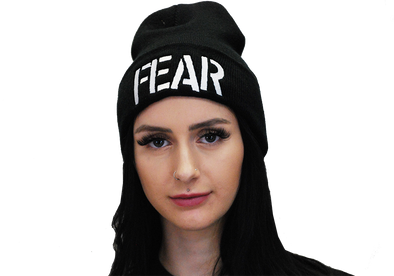 "FEAR: ""LOGO"" EMBROIDERED BEANIE"