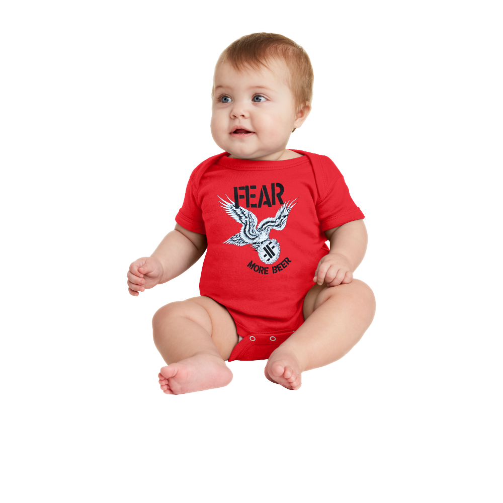 "FEAR ""MORE BEER"" INFANT ONESIE"