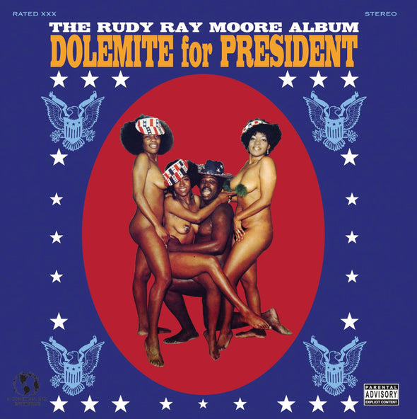 "RUDY RAY MOORE - ""Dolemite For President"" LP"