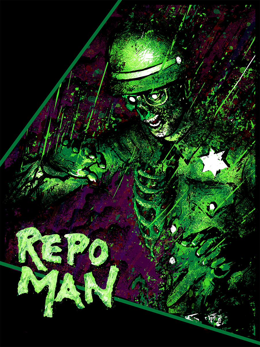 REPO MAN LIMITED EDITION ROB RAVENOUS TEE AND POSTER COMBO