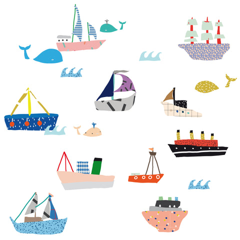 Wall Sticker, Boats